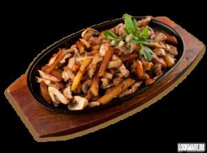 «Шипящая сковорода»     с курицей